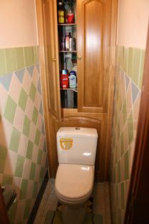 Стенка в туалете своими руками